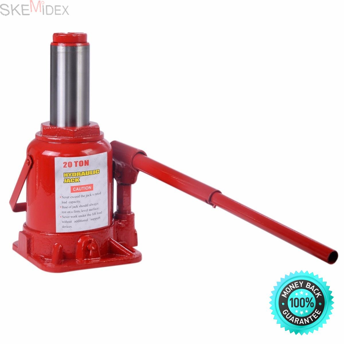 SKEMIDEX---20 TON Hydraulic Bottle Jack Low Profile Automotive Shop Axle Jack Hoist Lift Lifting Capacity: 20 TON Minimum Clearance: 7-1/2-Inch (19 Cm) Adjustable Screw: 2-3/8-Inch (6 Cm) Maximum Lift