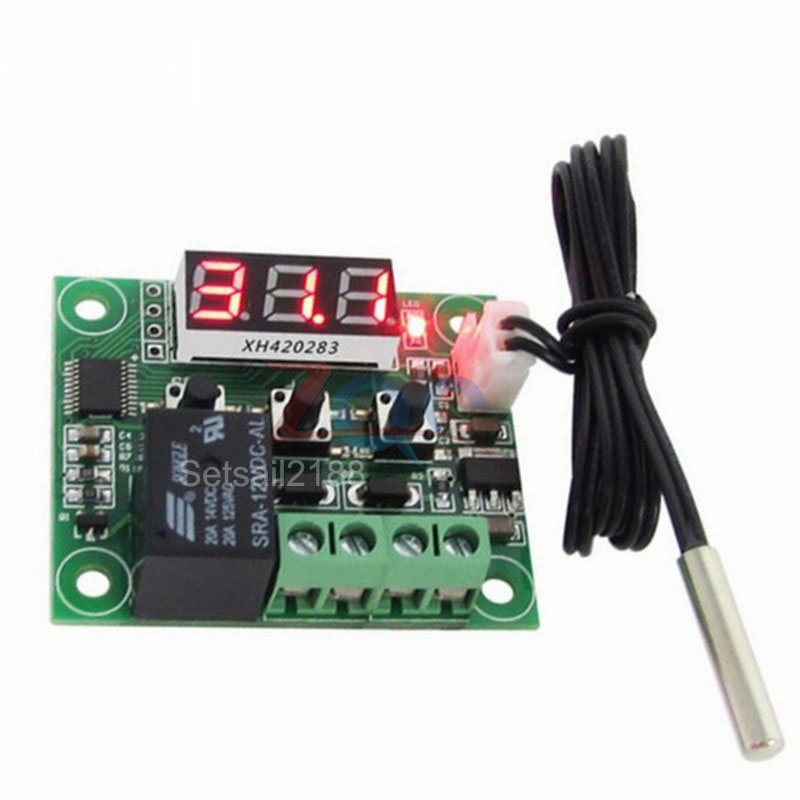 Automatic Digital Temperature Controller Thermostat DC12V Control Switch