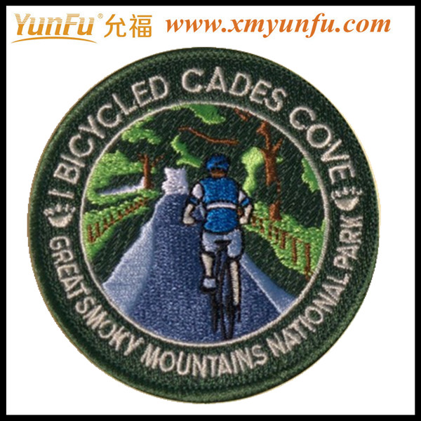 Custom Bike embroidered patches