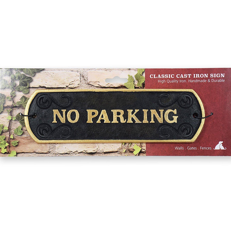 No Parking Cast Iron Landscape Sign