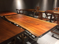Best seller high quality natural solid wood table top dried Okan live edge slab
