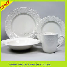Hot sale embossment ceramic dinning ware factory directly