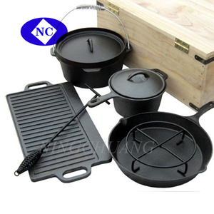 Hebei Province Pre-seasoned Coating Cast Iron Cookware Sets Dutch Oven