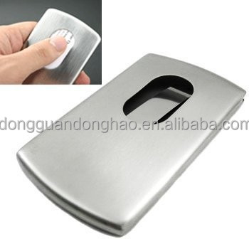 stainless steel business card case metal credit id card holder metal case steel - Metal Business Card Case