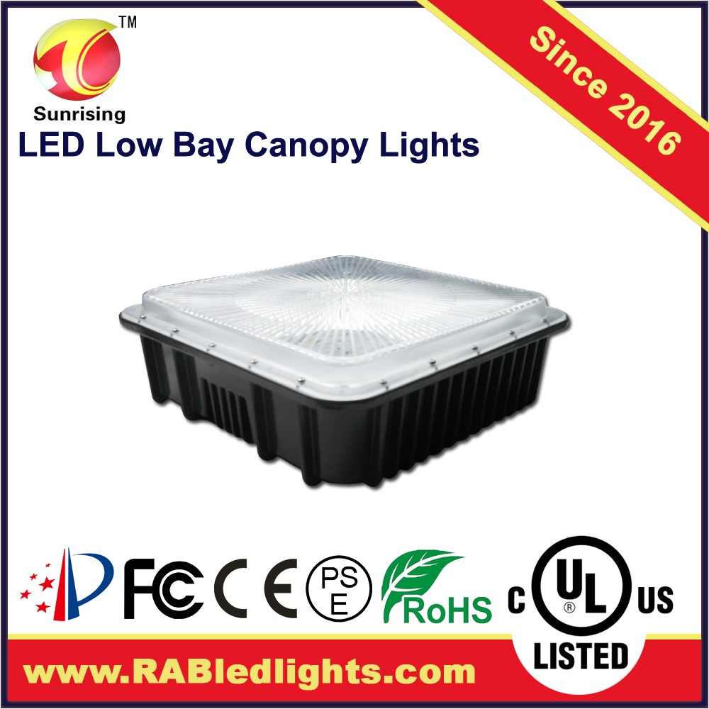 led parking garage lighting, ul dlc canopy led light 50w for parking garage gas station