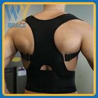 Adjustable vest to correct posture with back support