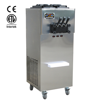 ETL CE Rohs All 304 Stainless Steel Shell 3 Flavors Soft Ice Cream Machine