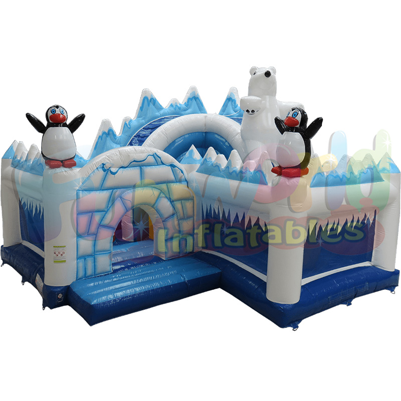 Mystery ice world inflatable bear and penguin bouncer inflatable Polar World