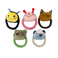 Free sample Pet Products Dog Toys Dog Cotton Rope Dog Chew Toys with Animal Head Pet Toys