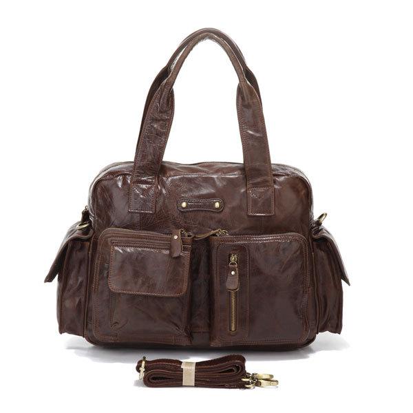 Get Quotations · 2014 Factory Directly 100% Genuine Leather JMD Vintage Men  Travel Handbags Duffel Bags Messenger Bag 2a6175f2d8045