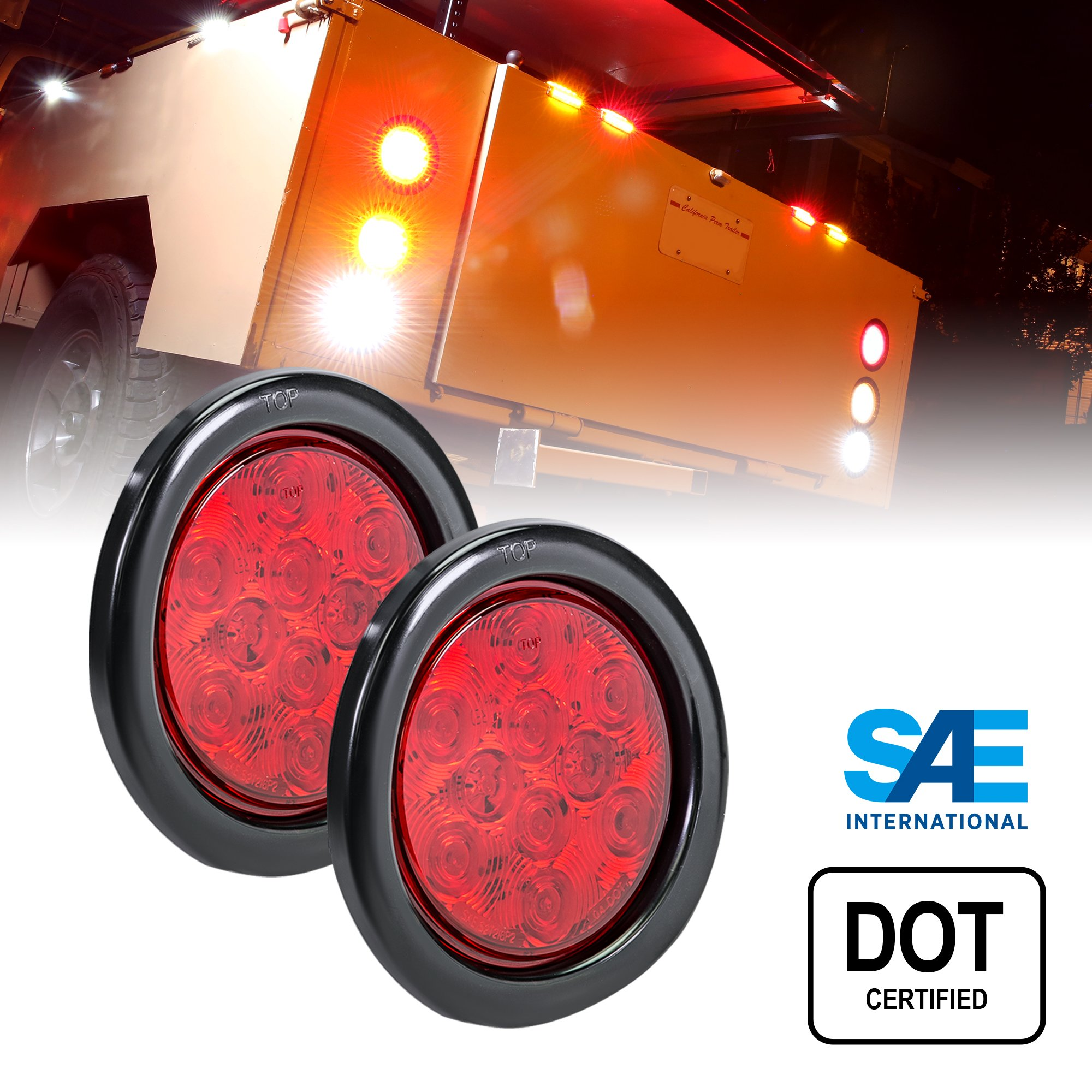 Buy TRUCK LITE CO INC 44326R Stop-Turn-Tail,Round,LED,Red in Cheap