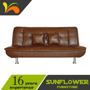 Commercial Office Used Vintage Leather Sofa Bed Top Quality Factory Direct