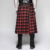 Q-325 PUNK RAVE Latest Design Scottish Style Heavy Metal Rivet PU Male Skirt