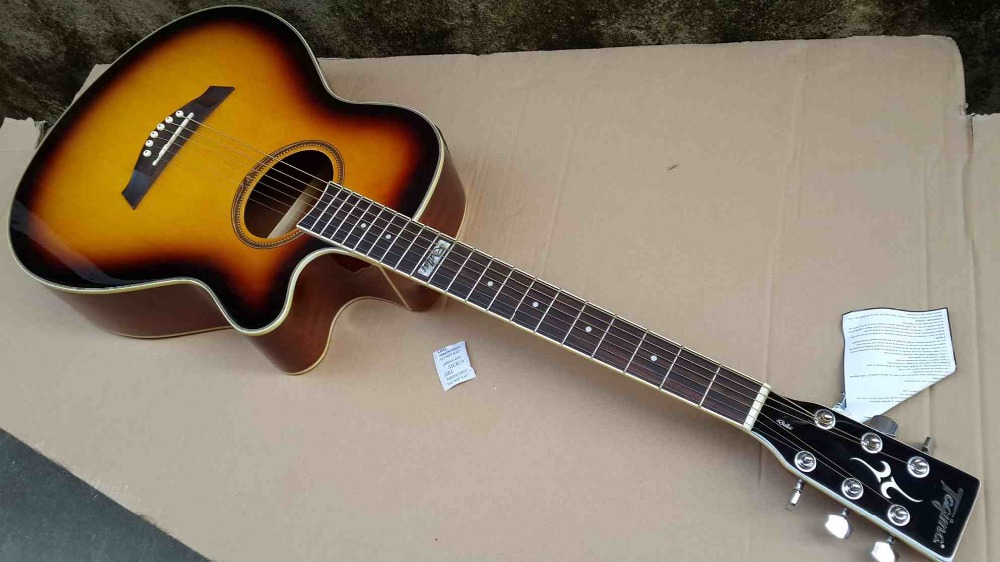 sunburst tagim electric acoustic guitar with tuner in guitar from sports entertainment on. Black Bedroom Furniture Sets. Home Design Ideas