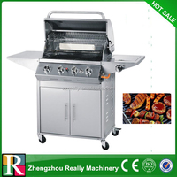 430 stainless steel professional indoor bbq gas grill