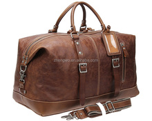 Iblue D034 Genuine Leather Weekend Duffle Large Travel Bag 21in