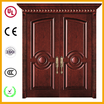Latest design teak wood color main door models double for Latest main door