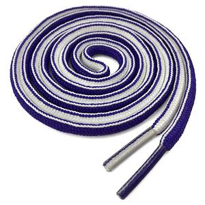 New Style Polyester Custom Double Colors Oval Shoelaces Half Round Shoe laces