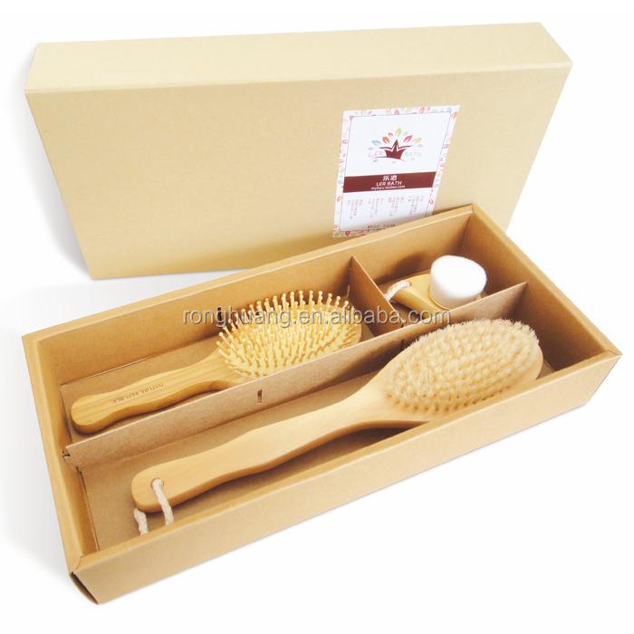 Customized Wooden bath brush gift set