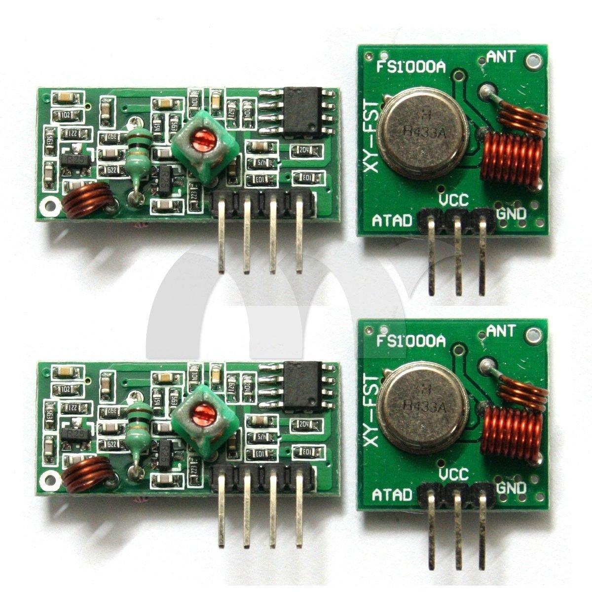 Buy Eztronics Corp® 2 Sets 433Mhz RF Transmitter Module and