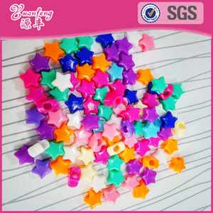 Star shape chunky beads loose plastic beads for accessories