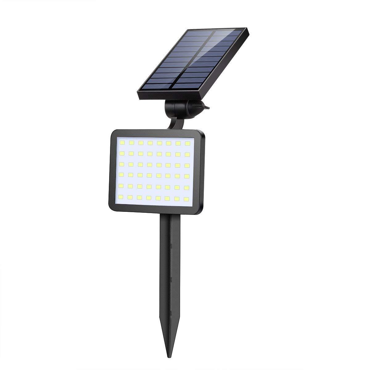 SOONHUA 48 LED Outdoor Solar Spotlight, Solar Light Landscape Lighting for Garden Auto on/off 5 Light Modes 360°Adjustable 2-in-1 Installation Wall Light Waterproof Solar Flood Light For Yard Patio