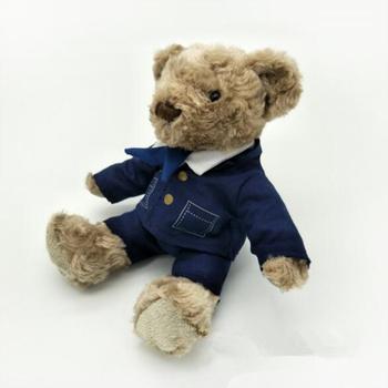 Kustom Pekerjaan Yang Berbeda Beruang Airline Pilot Teddy Beruang Seragam 269148b362