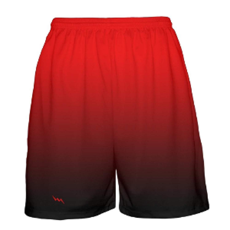 393ada6ceff92 Get Quotations · LightningWear Red Black Fade Basketball Shorts - Ombre Basketball  Short - Youth Basketball Shorts
