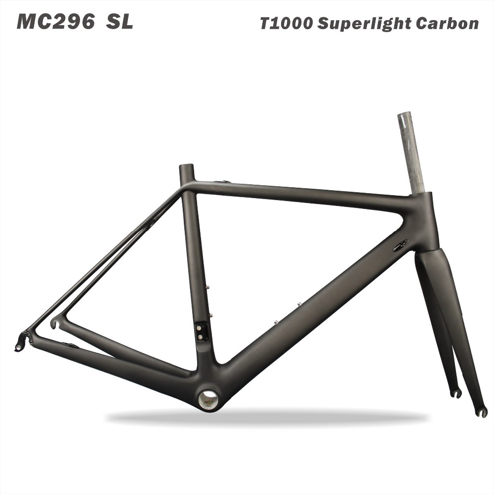 Chinese Cheap Carbon Frame 2017 Carbon Road Frame Toray t1000 Carbon Bike Frame 49/51/55cm