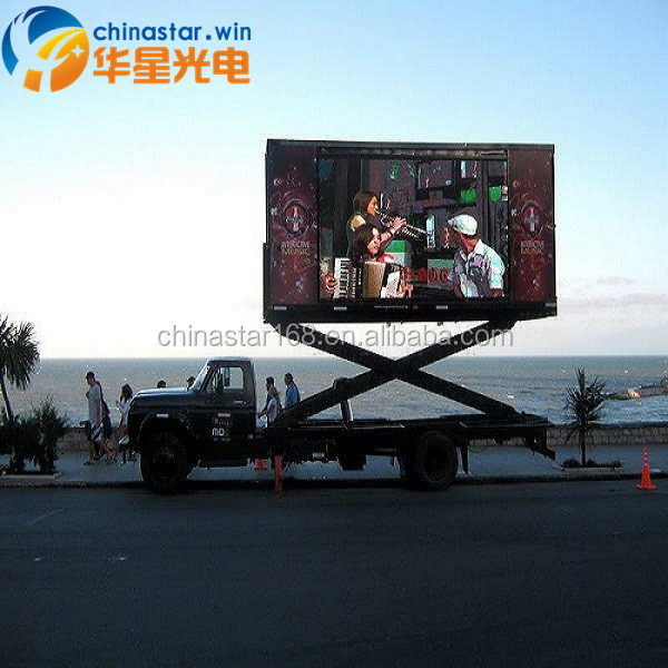Led Truck Mounted Billboard Display P10mm Outdoor Trailer Mobile advertising LED Display