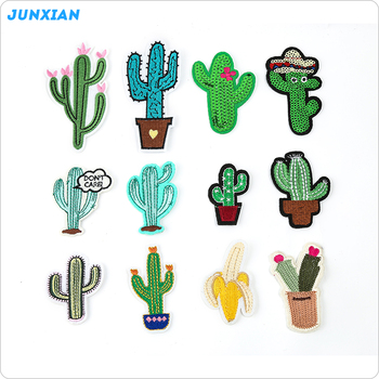 modern style garment accessories different type cactus embroidered