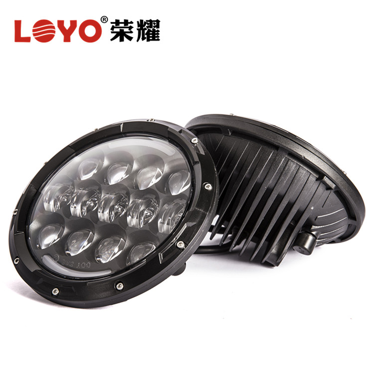 "Guangzhou vehicle led light factory 105 watt 7"" headlight for jeep wrangler led headlight"