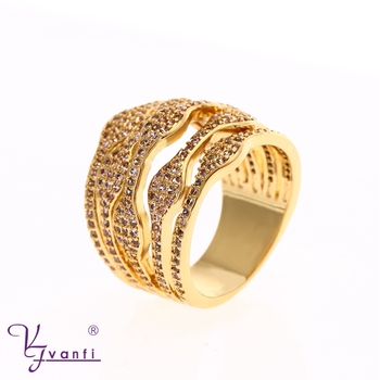 Latest Beautiful Simple Designs Saudi Fashion Gold Finger Ring