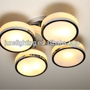 modern round glass decorative lamp suspended ceiling light