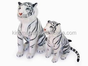 Realistic Plush Tiger Toy Stuffed White Tiger Plush Toy Plush