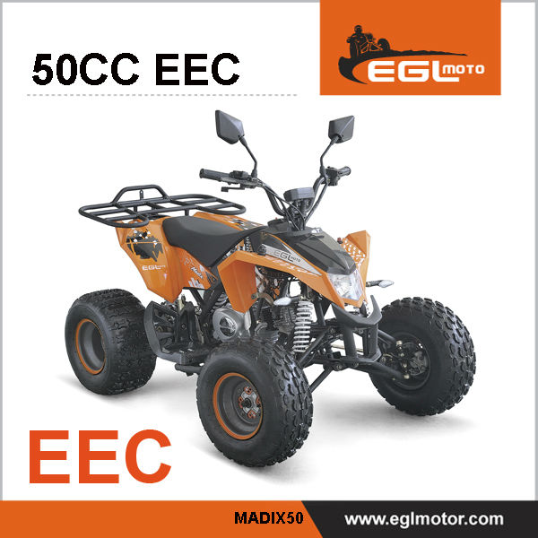 EEC Certified Fouf Wheel Quad Bike 50cc