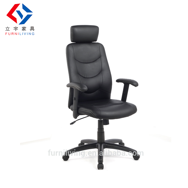 360 Degree Rotation High Back Head Support Used Manager Revolving Office Chair Anji