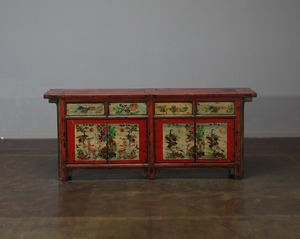 Chinese vintage restored furniture hand painted cabinet decoration vintage furniture