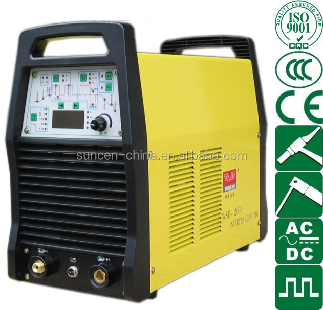 WSE-200Di Inverter IGBT AC DC pulse TIG MMA welding machine Digital 200 Amp weld aluminums
