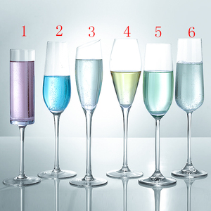 Crystal Clear Champagne Glass tulip-shaped champagne wine glass