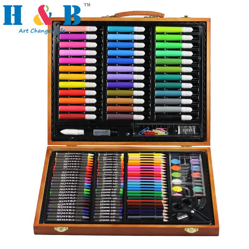 Оптовая продажа, масляный маркер для карандашей, акварельные пирожные, детская ручка для рисования, набор канцелярских принадлежностей