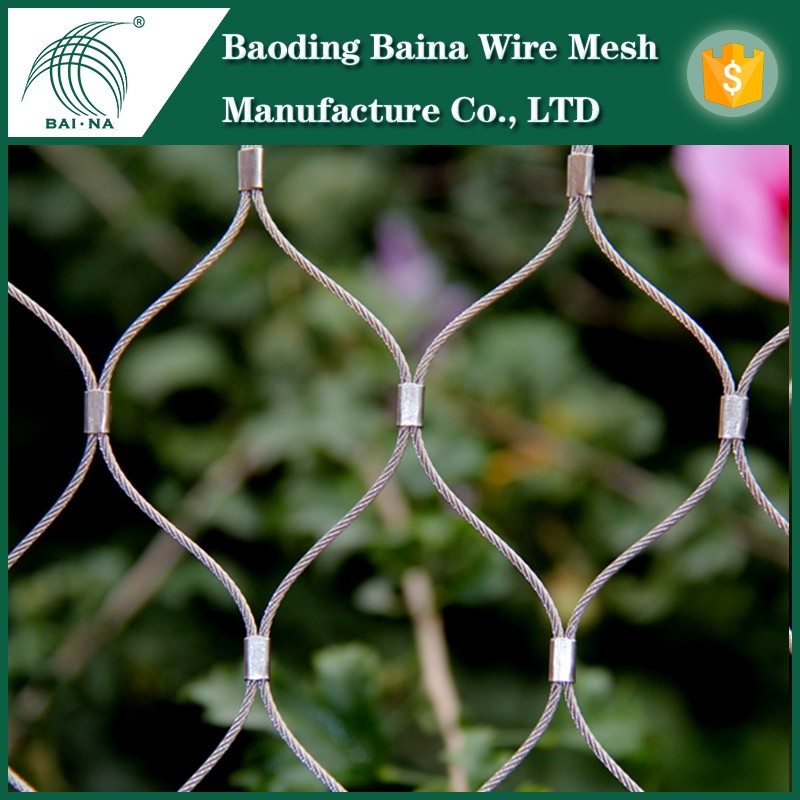 architectural wire mesh stainless steel balcony railing tennis net