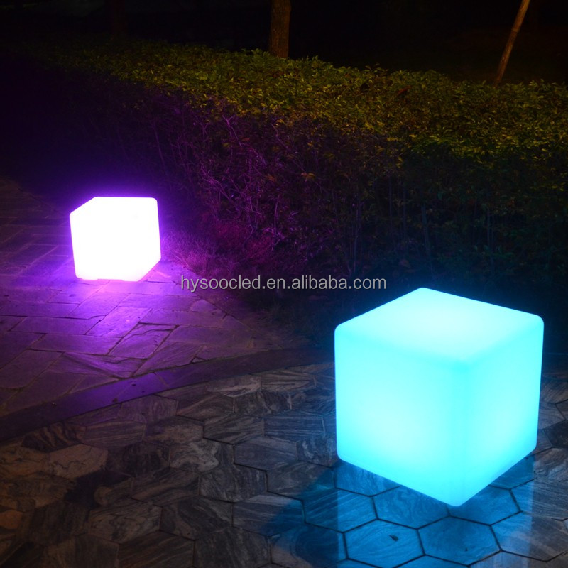 Commercial Outdoor Plastic Lighting Led Cube Light For Party Event D Rgb Ice Wedding Chair Seats