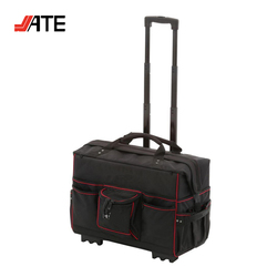 Heavy Duty 1680D Polyester Trolley Tool Bag Easy Carry Rolling Tool Bags with Wheels
