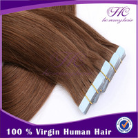 Zero Pollution And Lower Cost 22 Inch Chinese Straight Double Adhesive Goddess Remi Tape Human Hair Weave Extension