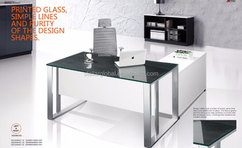 executive office table glass top boss office table desk office desk with drawer oz12ewa07