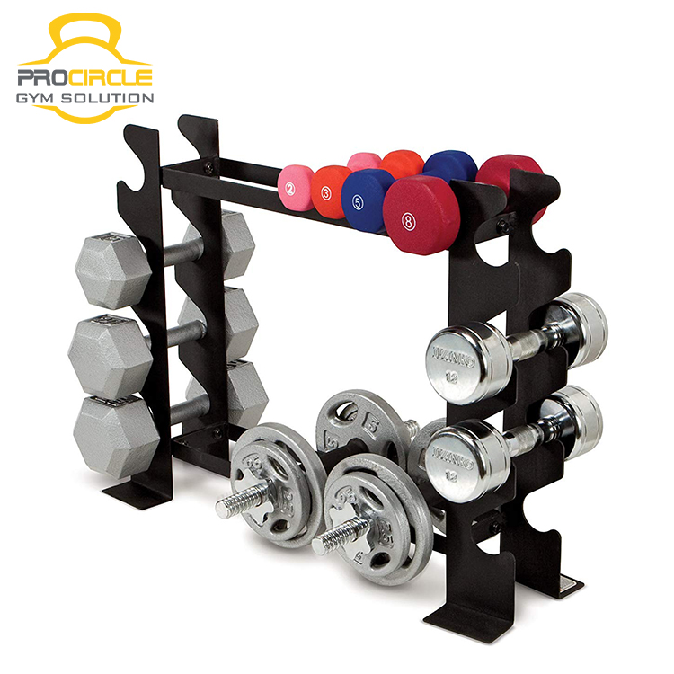 Body Building Gymnastic Equipment  3 Tier Coated Steel Wall Ball Holder Rack