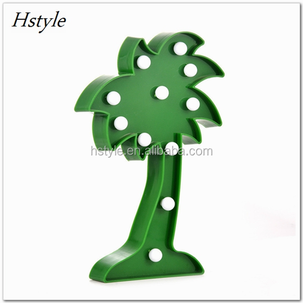 3D LED Coconut Tree Night Lamp Marquee LED Letter Night Light For Home Decoration Birthday Gift For Kids SNL096