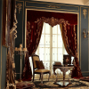 Royal Home Cinema Design Curtain, Elegant Pleat Panel Curtain, Home Decorated Blackout Living Room Curtain