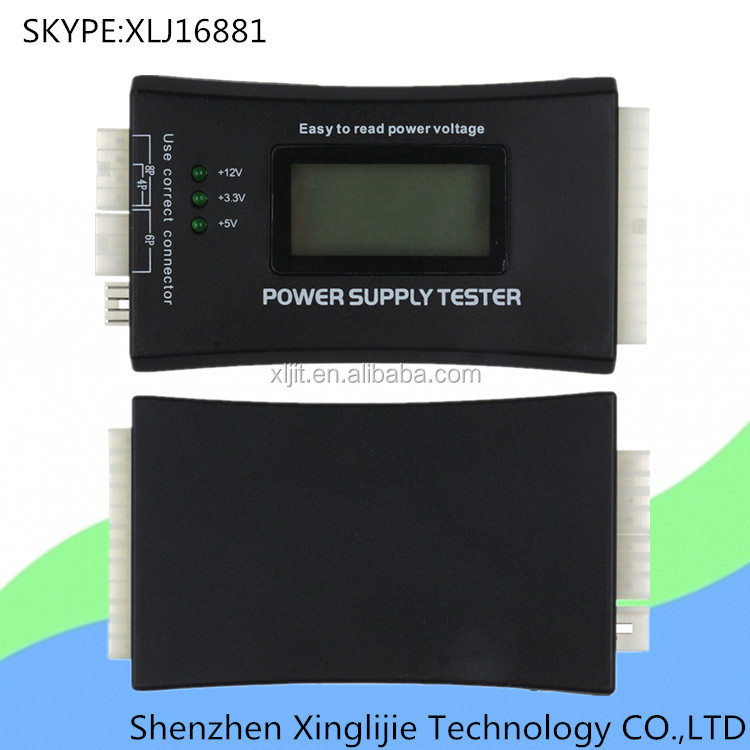 PC 20/24 pin SATA HDD Power Supply voltage <strong>Testers</strong> With LCD Display